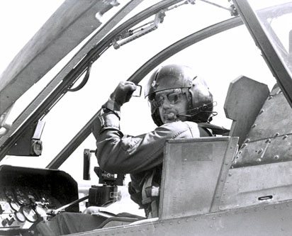 Bob Hesselbein in the Front Seat of a Cobra